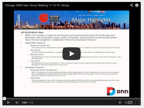 Missed the November Chicago User Group Meeting?