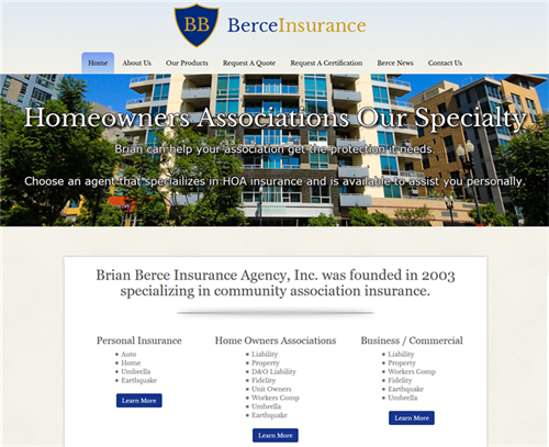 Website is Personal Intro for Insurance Agent