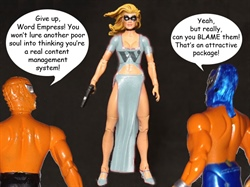 #DNN Superheroes Tangle with Word Empress