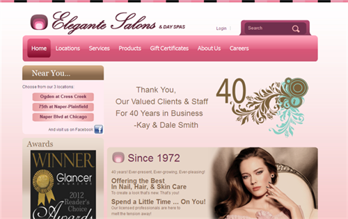 Elegante Salons Celebrate with New Website